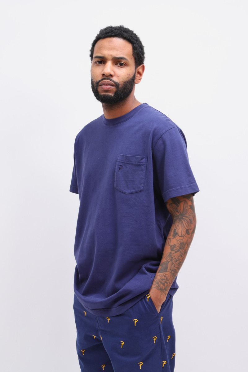 Patta basic pocket t-shirt Medieval blue