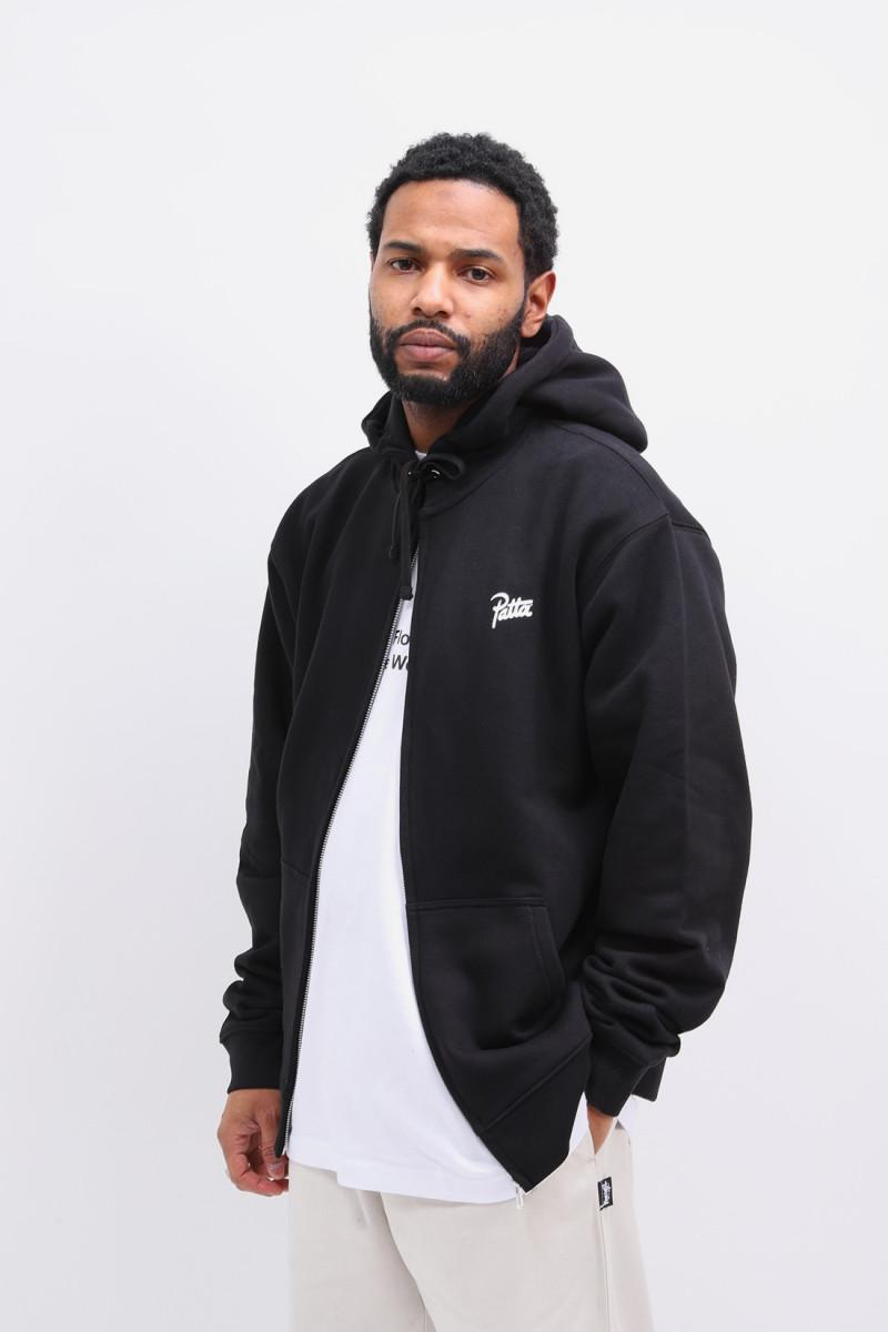 Patta basic summer zip hooded Black