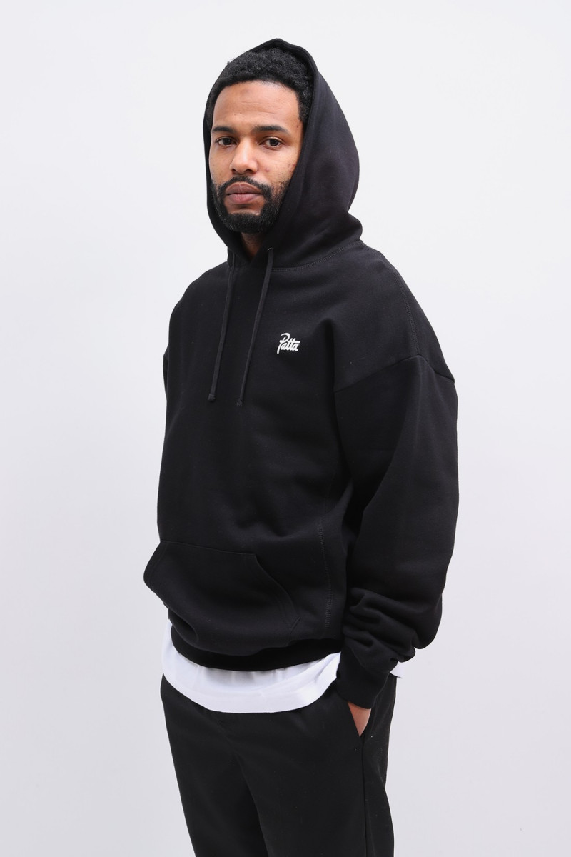 Patta basic summer hooded Black