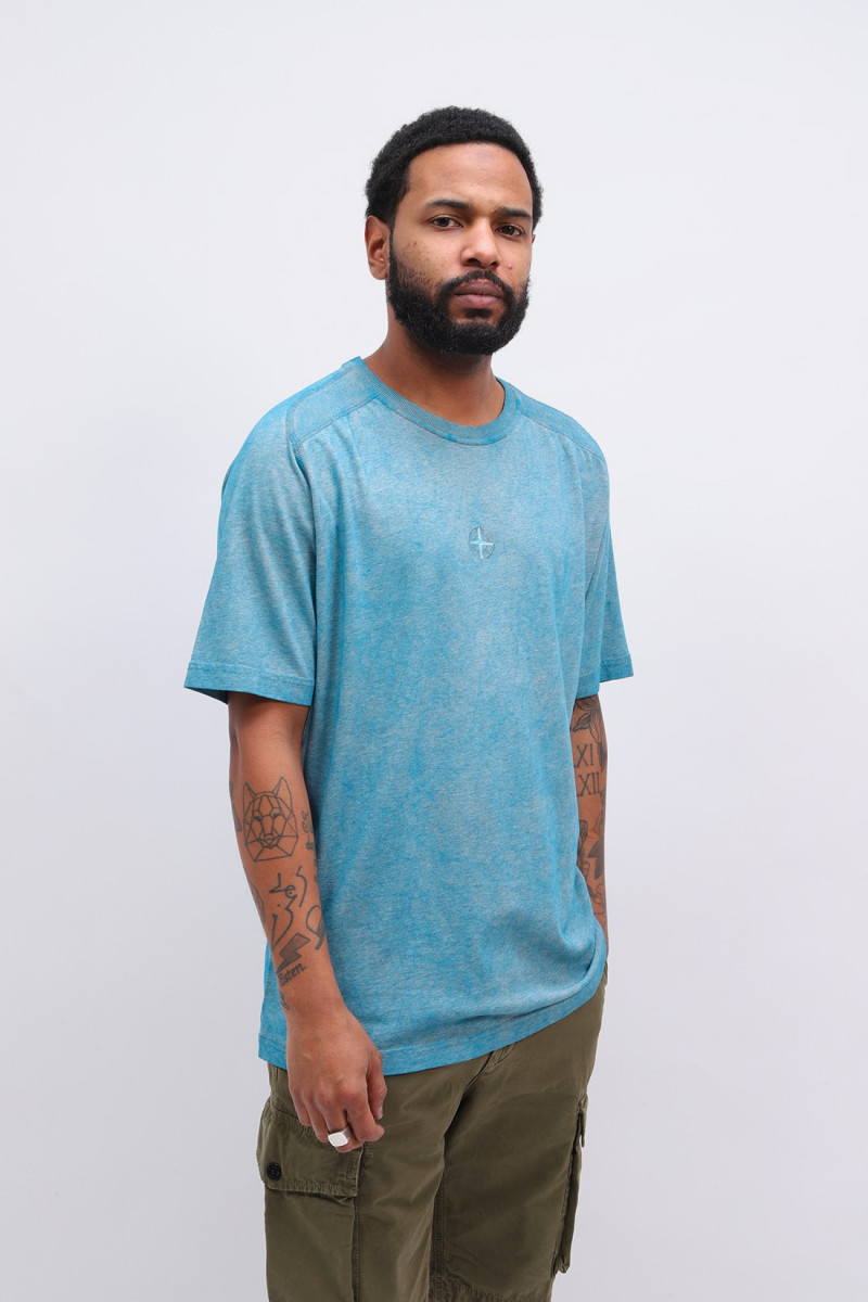 22993 dust t-shirt v1m42 Turchese
