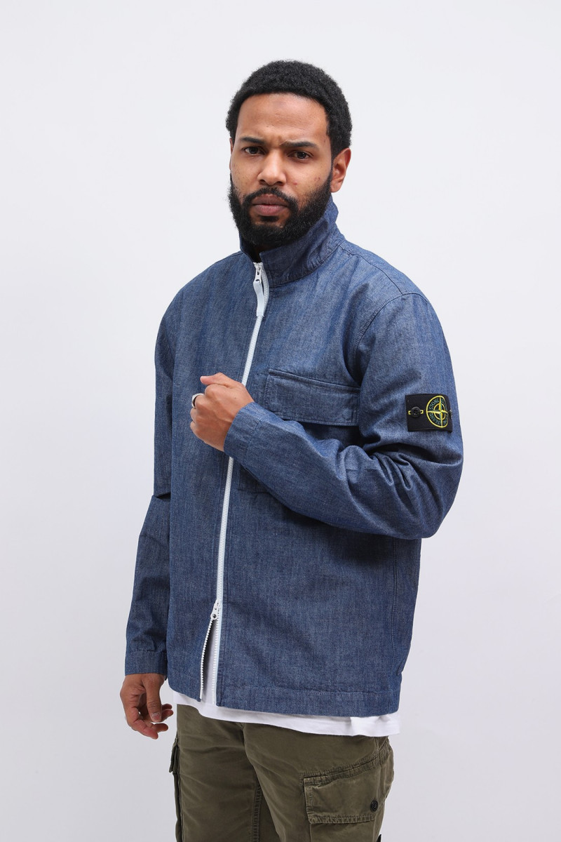 11207 chambray overshirt Wash