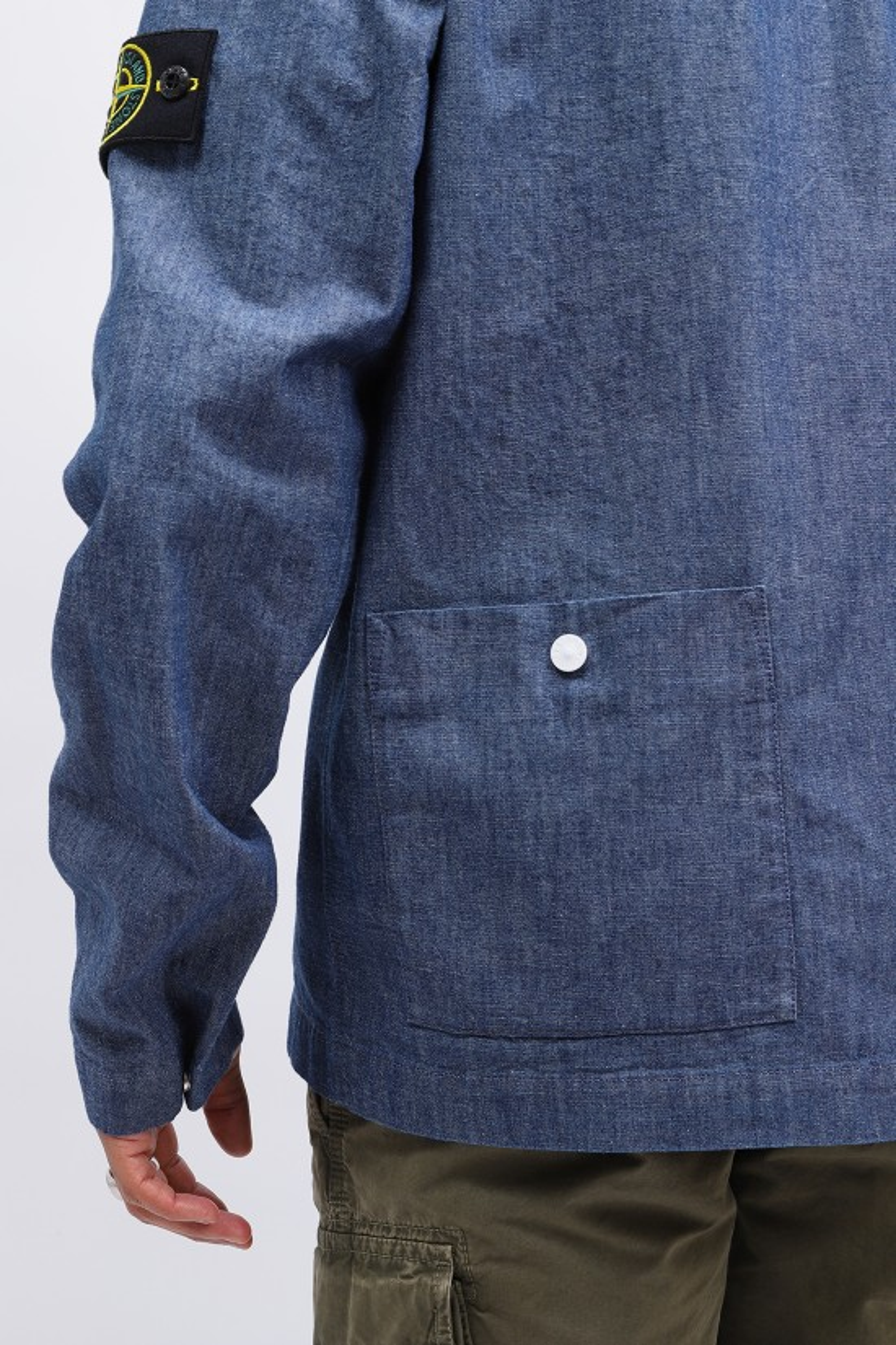 STONE ISLAND / 11207 chambray overshirt Wash