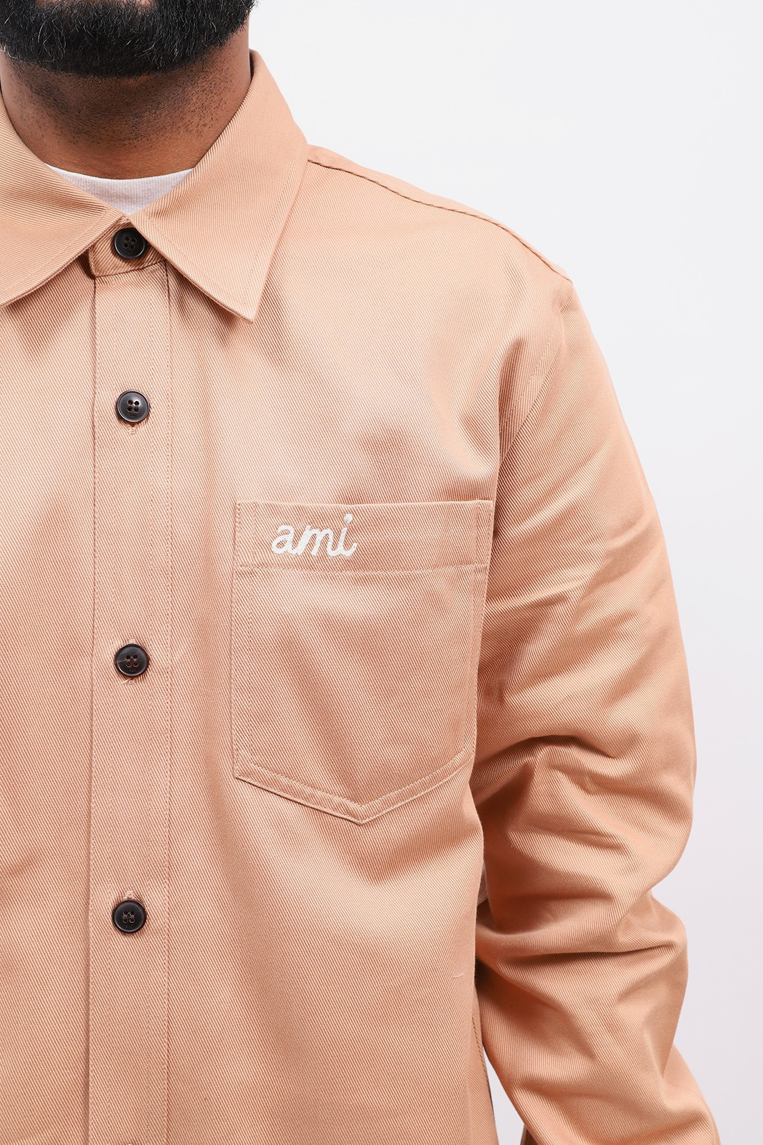 AMI / Surchemise boutonnee Beige