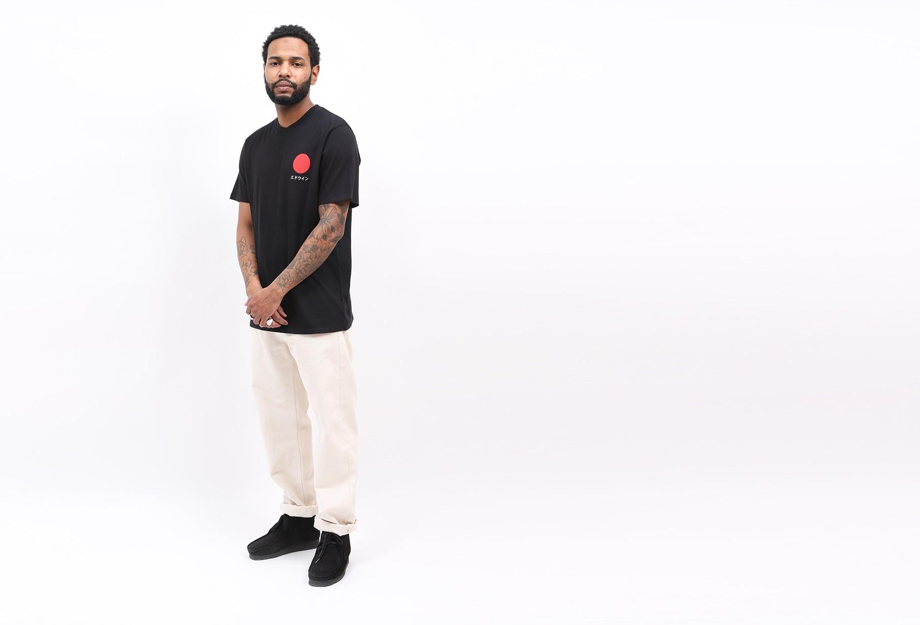 EDWIN / Japanese sun tee shirt Black
