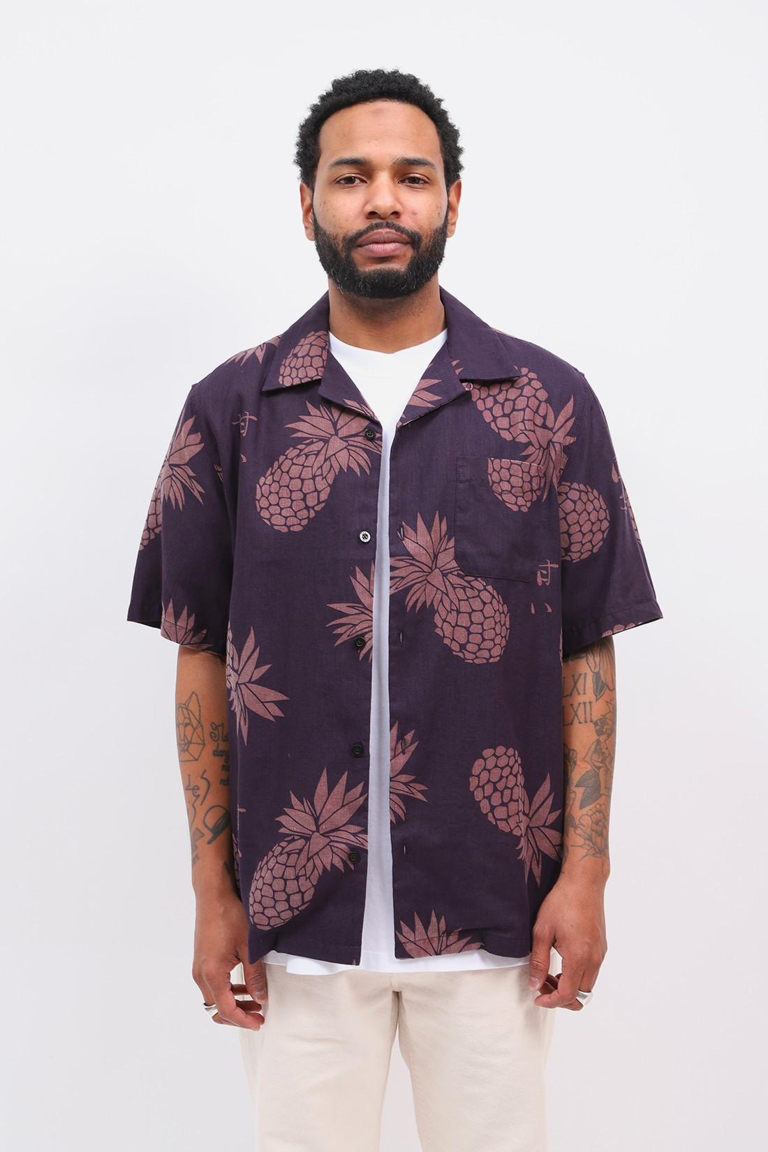 EDWIN / Multivitamin s/s linen shirt Aop