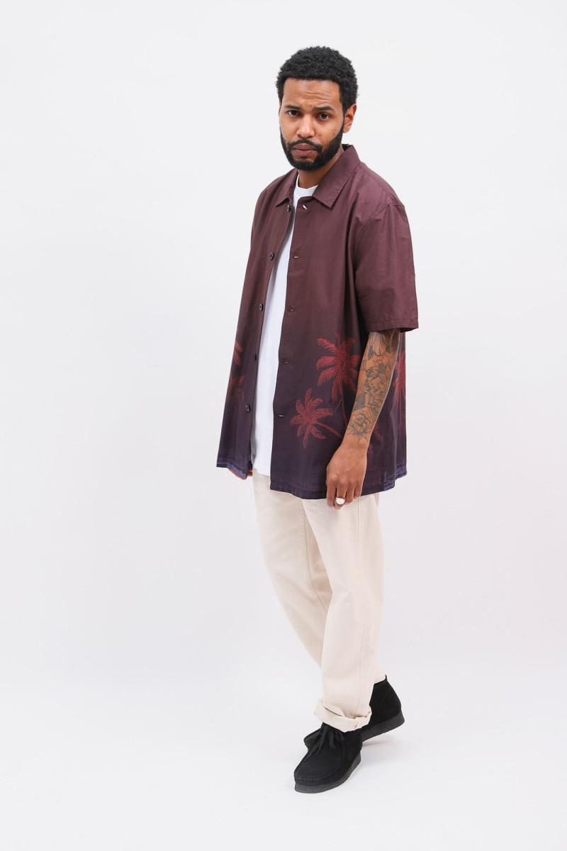 Palmrain s/s poplin shirt Aop