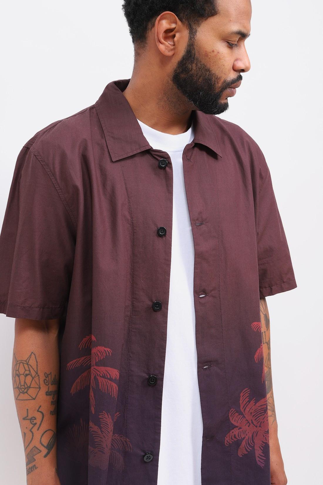 EDWIN / Palmrain s/s poplin shirt Aop