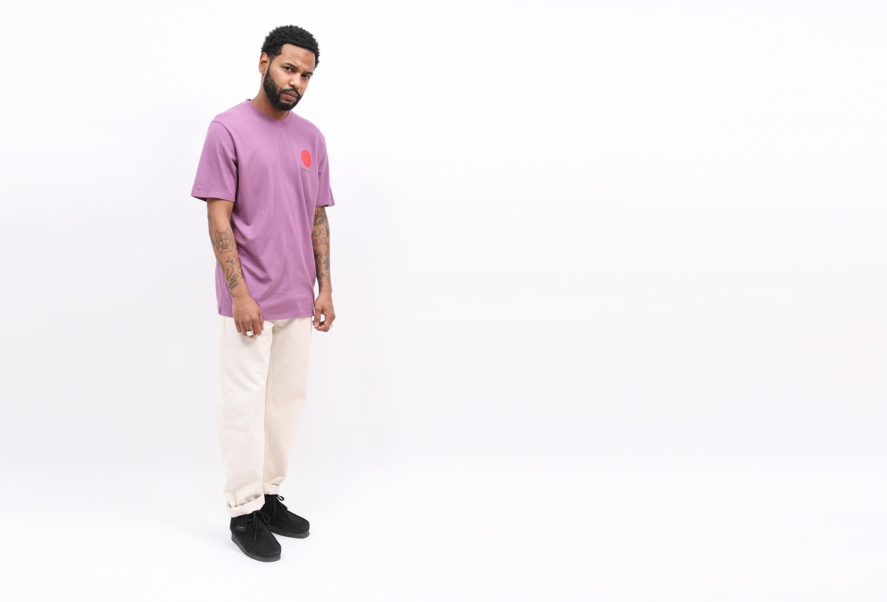 EDWIN / Japanese sun tee shirt Chinese violet