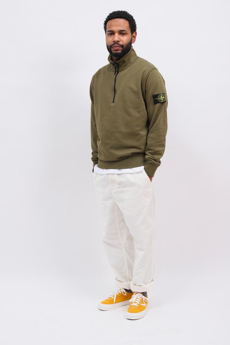 61951 half zip sweater v0058 Verde oliva