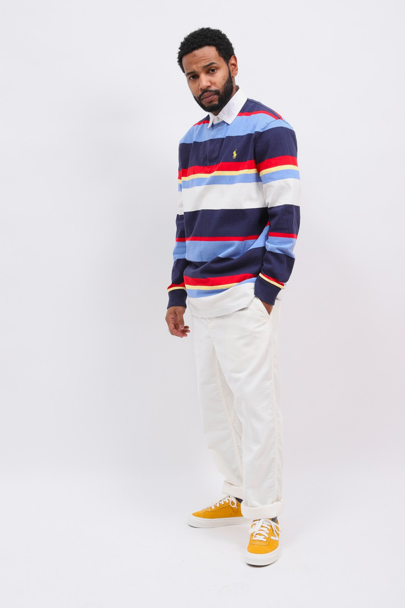 Classic fit polo rugby l/s Navy newport multi