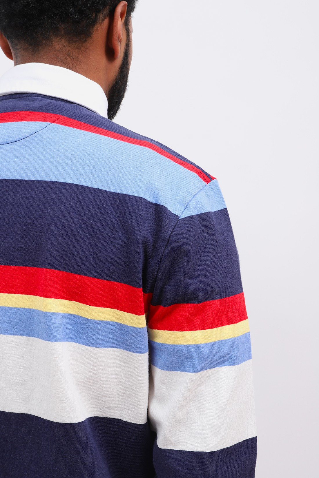 POLO RALPH LAUREN / Classic fit polo rugby l/s Navy newport multi