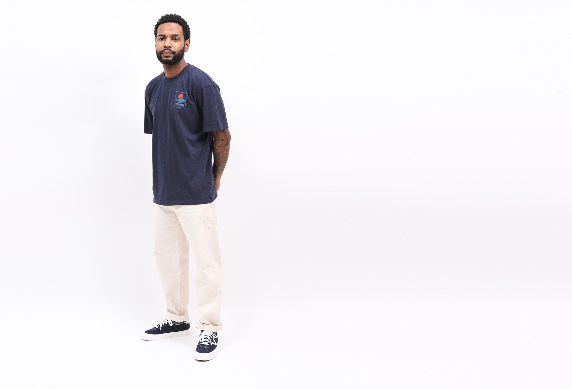 EDWIN / Sunset on mt fuji tee shirt Navy