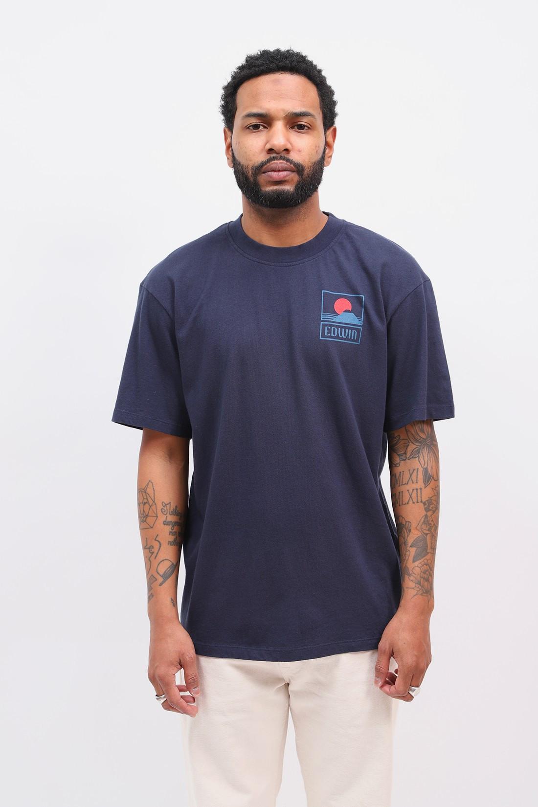 EDWIN / Sunset on mt fuji t-shirt Navy