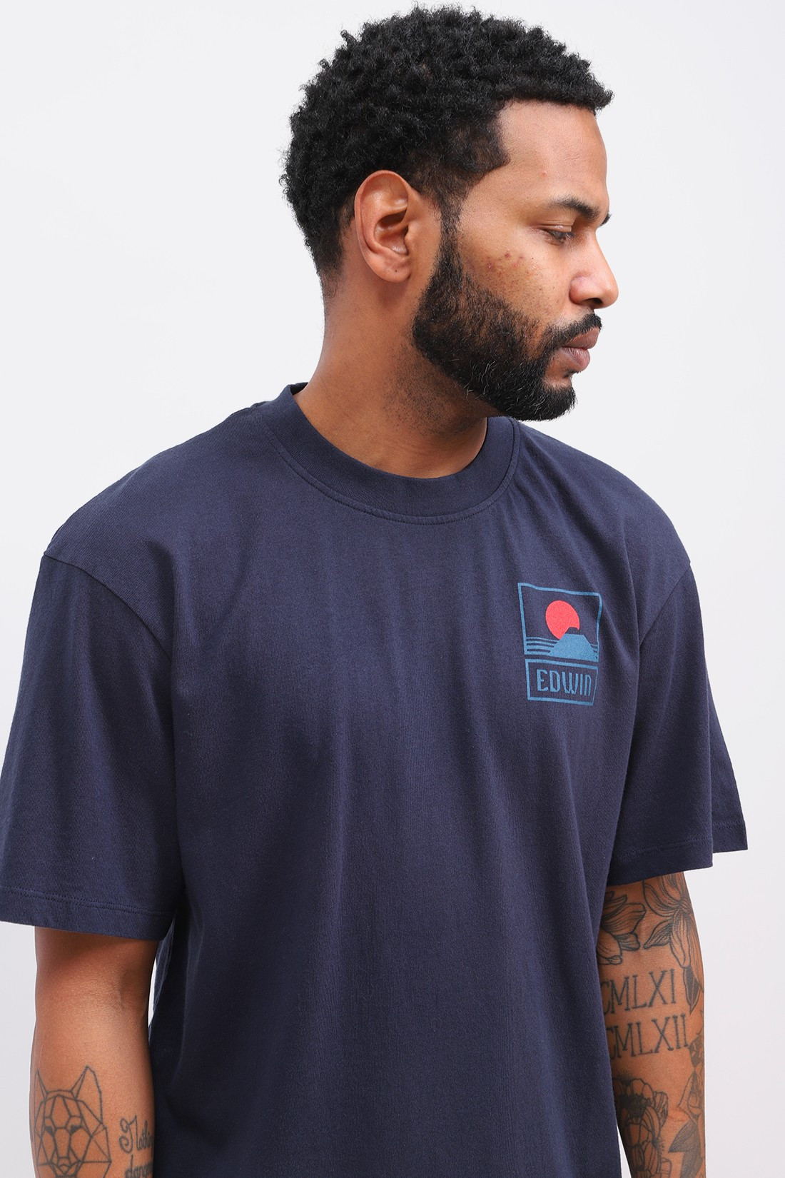 EDWIN / Sunset on mt fuji t-shirt Navy