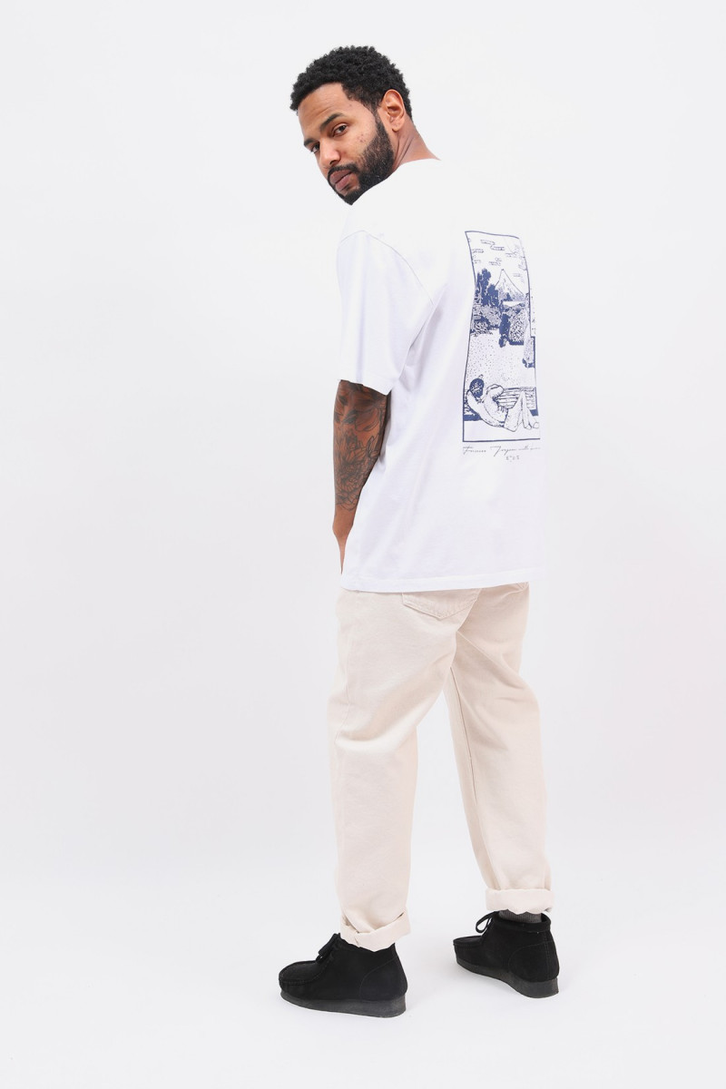 Fuji scenery tee shirt White
