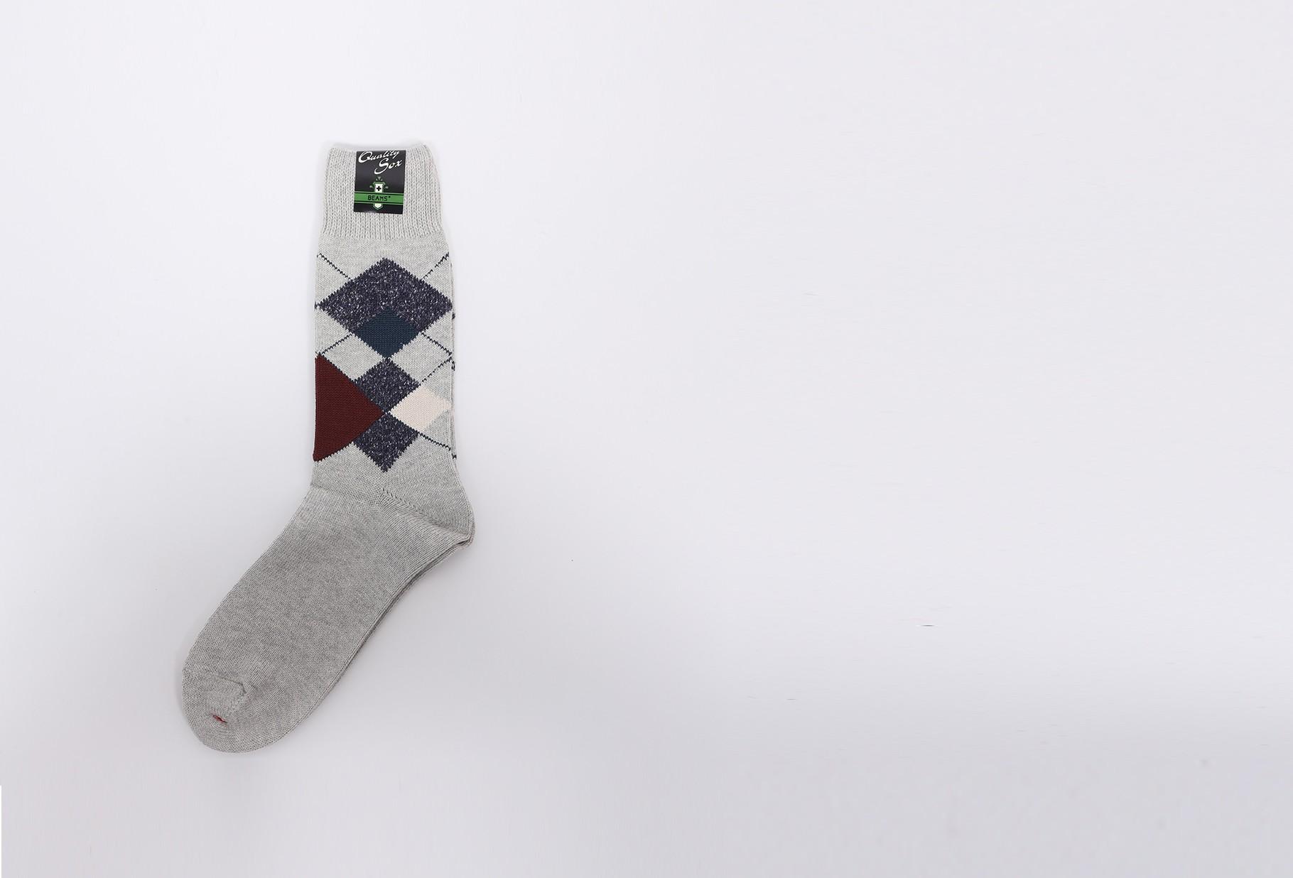 BEAMS PLUS / Argyle socks Light grey