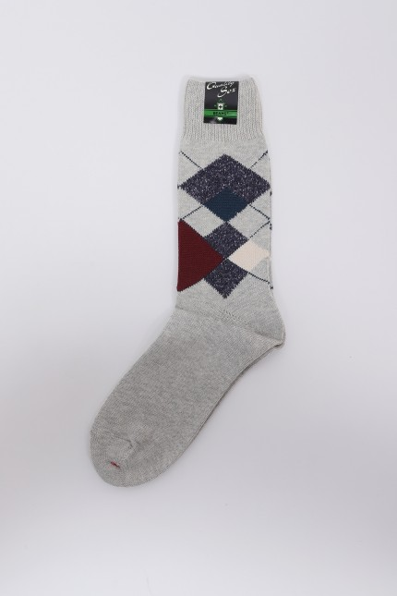 Argyle socks Light grey