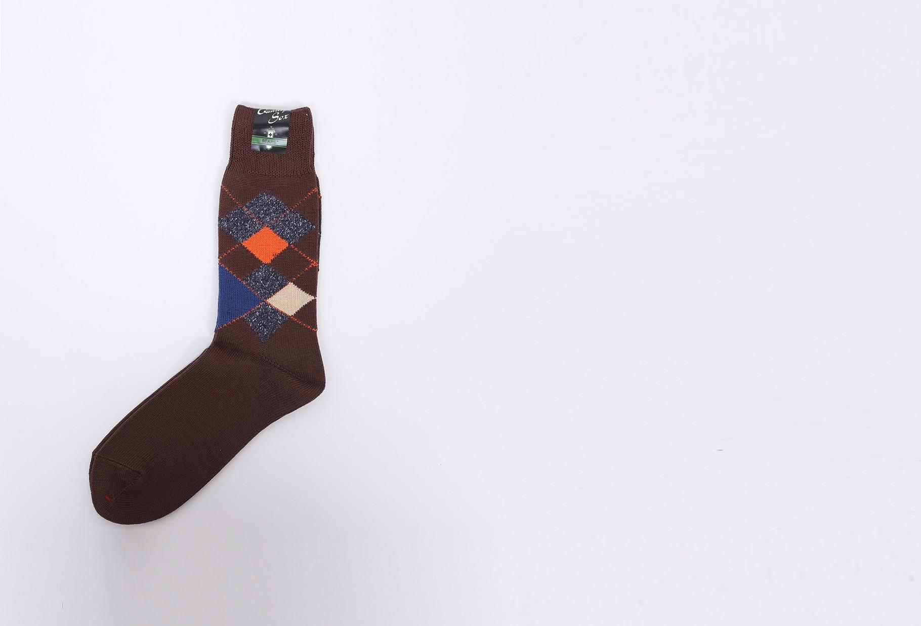 BEAMS PLUS / Argyle socks Brown
