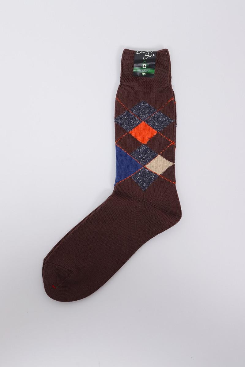 Argyle socks Brown