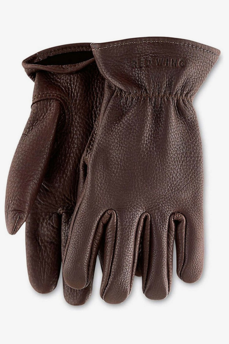 Buckskin leather lined glove Brown