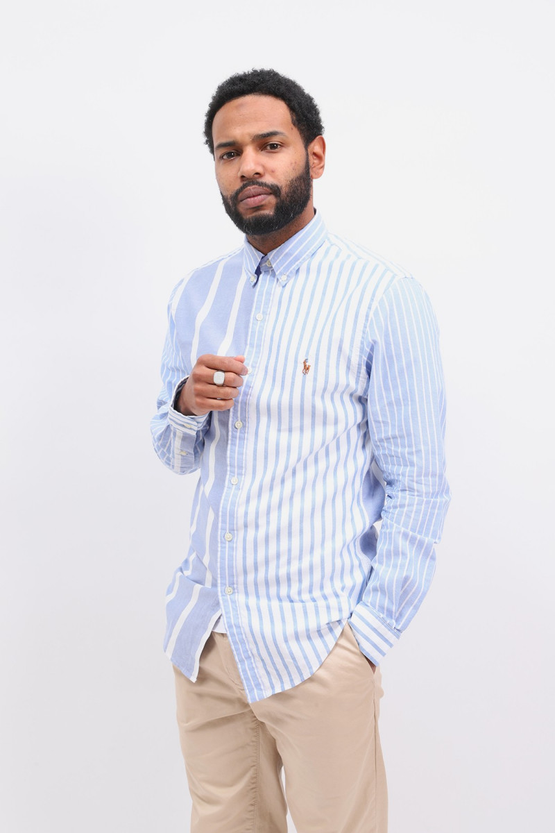 Slim fit oxford stripe shirt Blue multi
