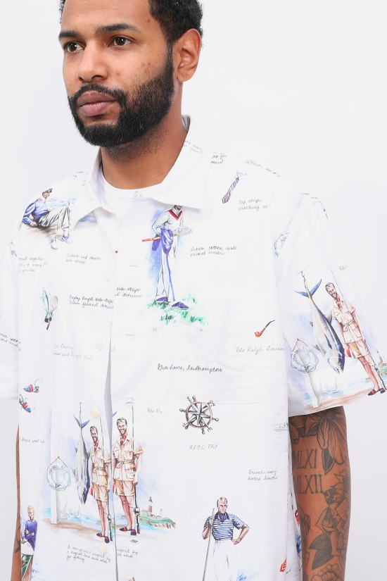 POLO RALPH LAUREN / Classic fit s/s shirt printed White multi