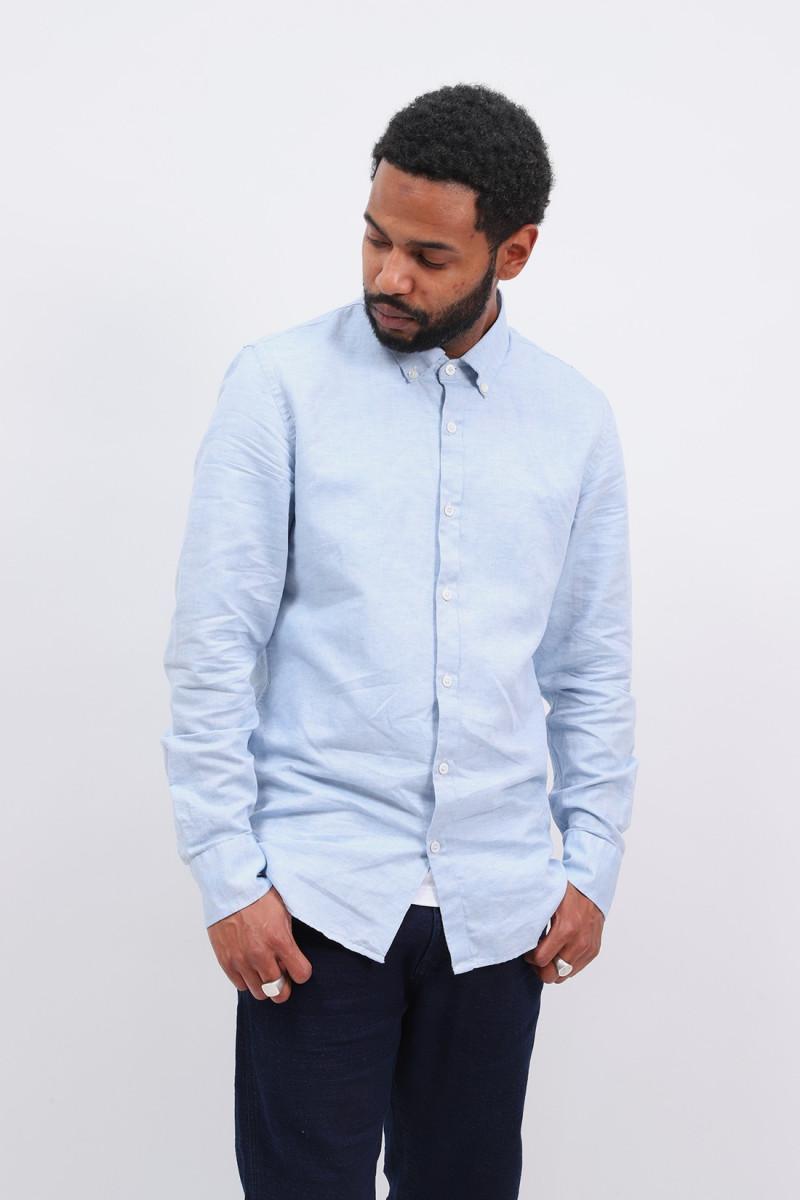 Tokyo linen shirt Speckled blue