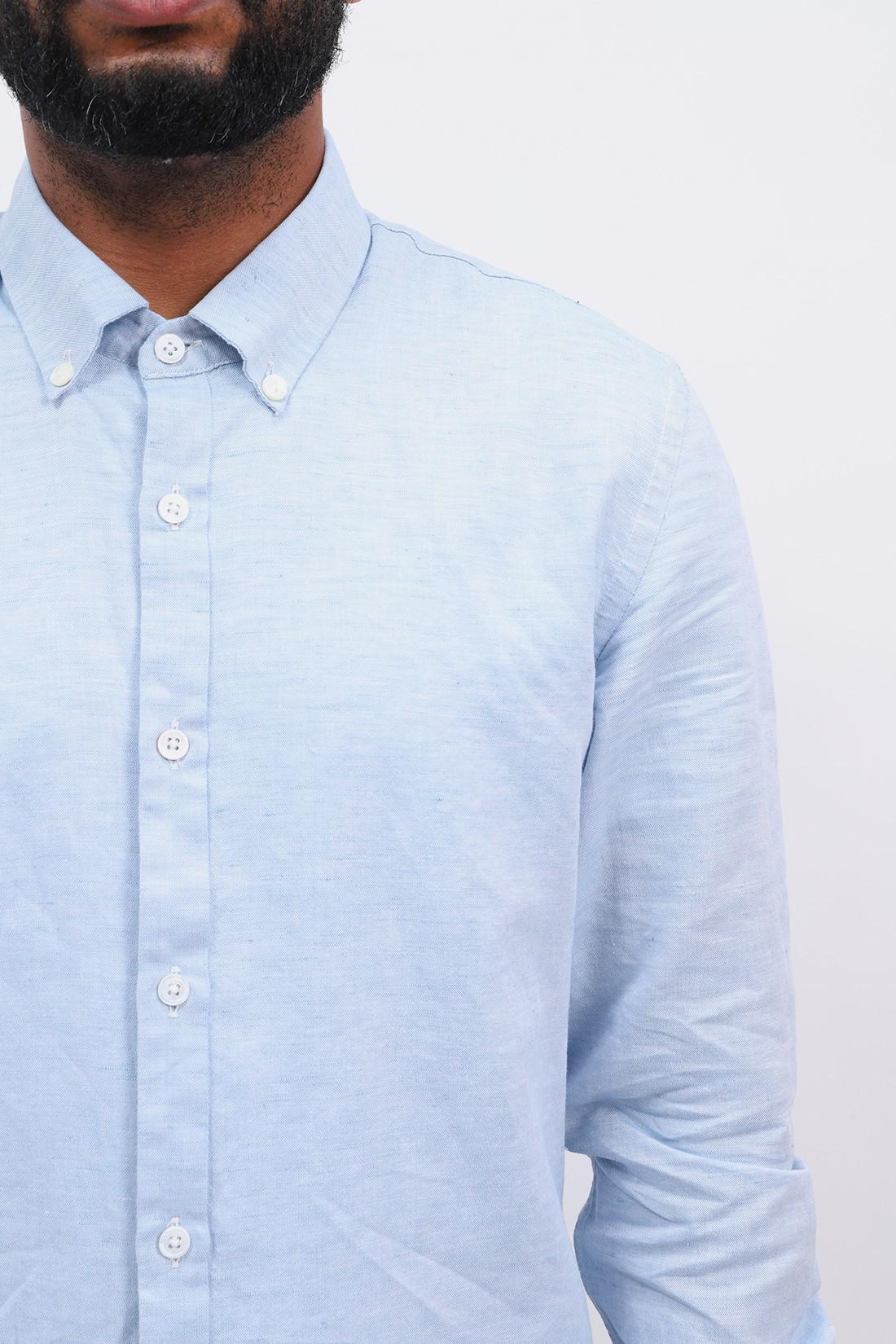 HOMECORE / Tokyo linen shirt Speckled blue