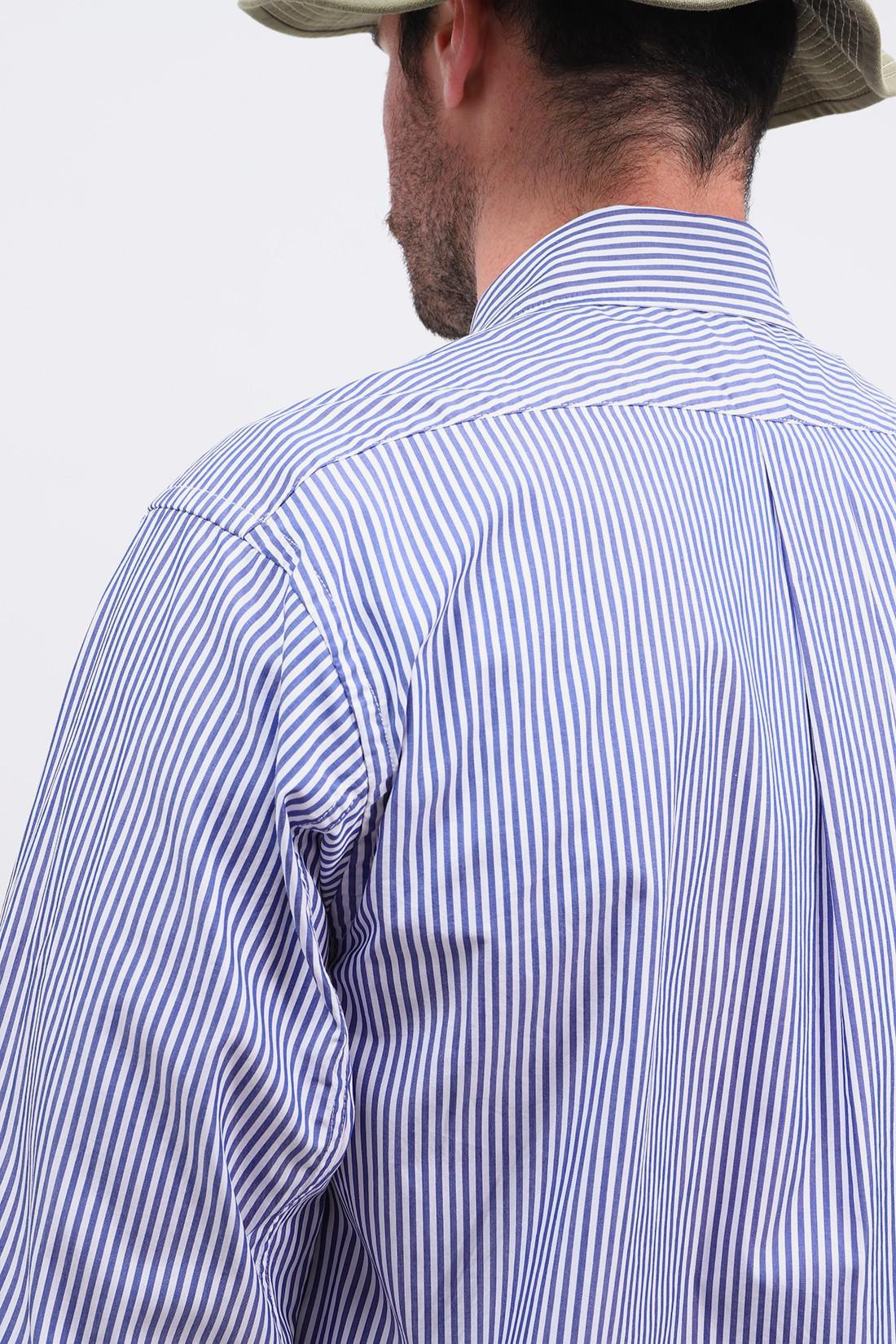 ENGINEERED GARMENTS / 19 century bd shirt stripe Blue/white
