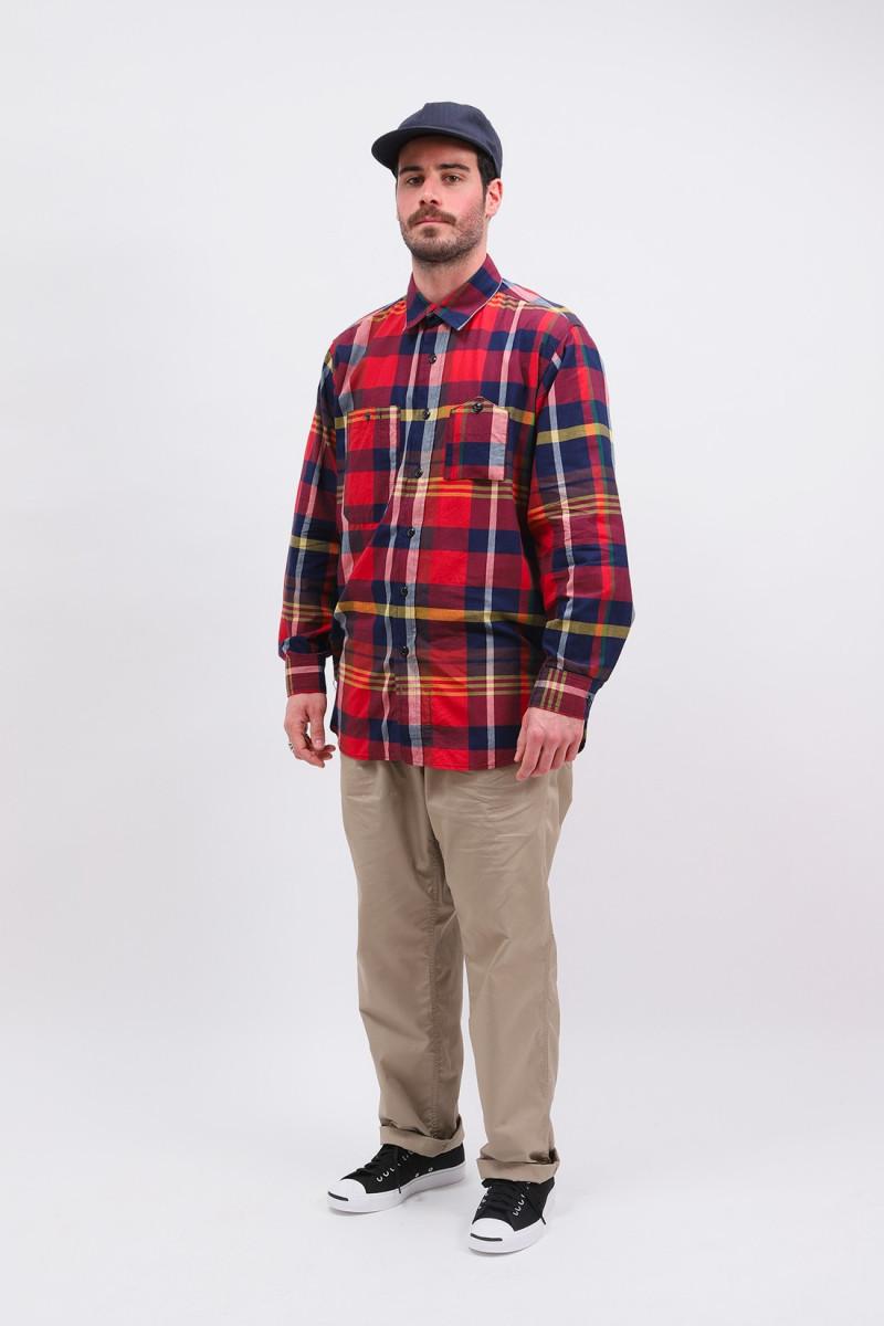 Work shirt big madras plaid Red/navy