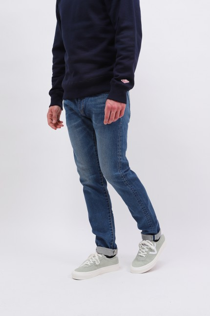 Slim tapered kaihara stretch Blue mid used