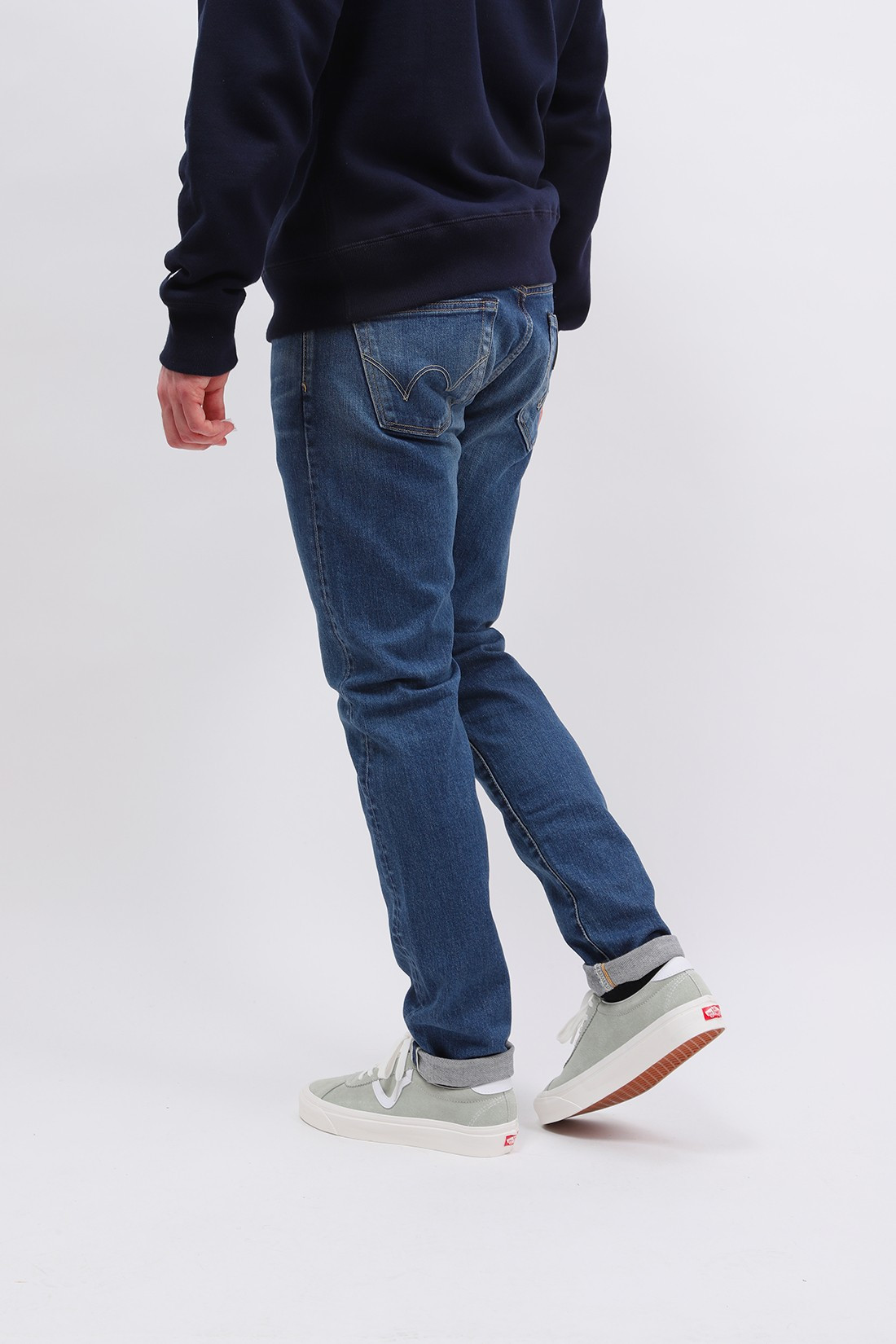 EDWIN / Slim tapered kaihara stretch Blue mid used