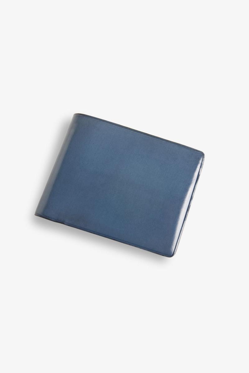 Bi-fold wallet w/ 8 card slots Poseidon blue
