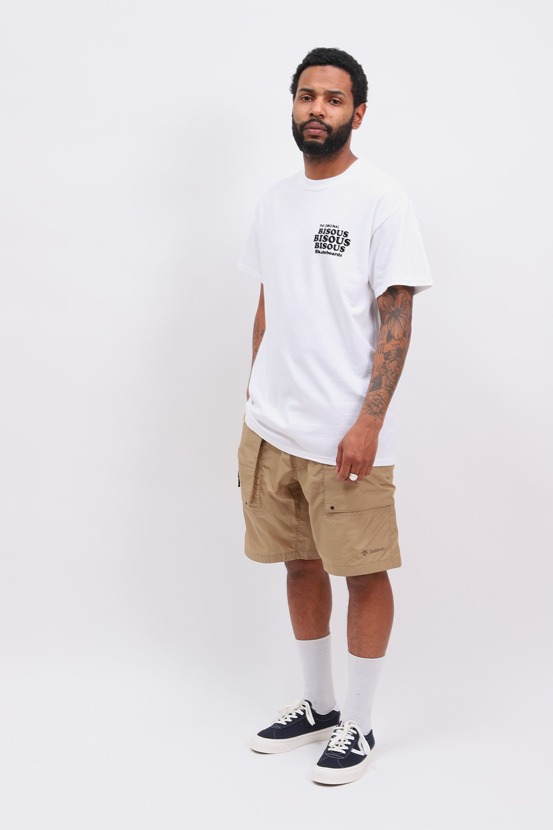 BISOUS SKATEBOARDS / T shirt grease White