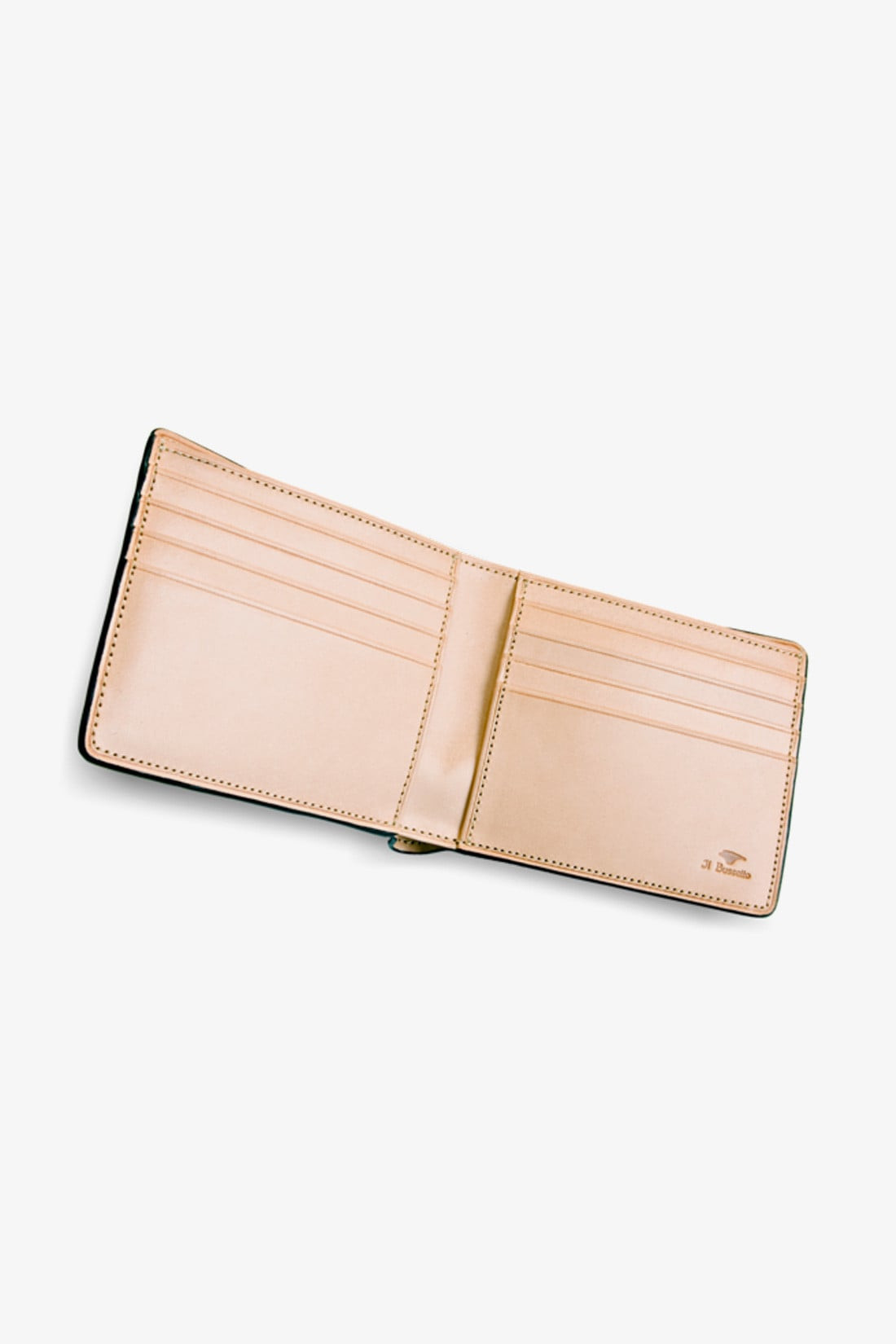 IL BUSSETTO / Bi-fold wallet w/ 8 card slots Forest green