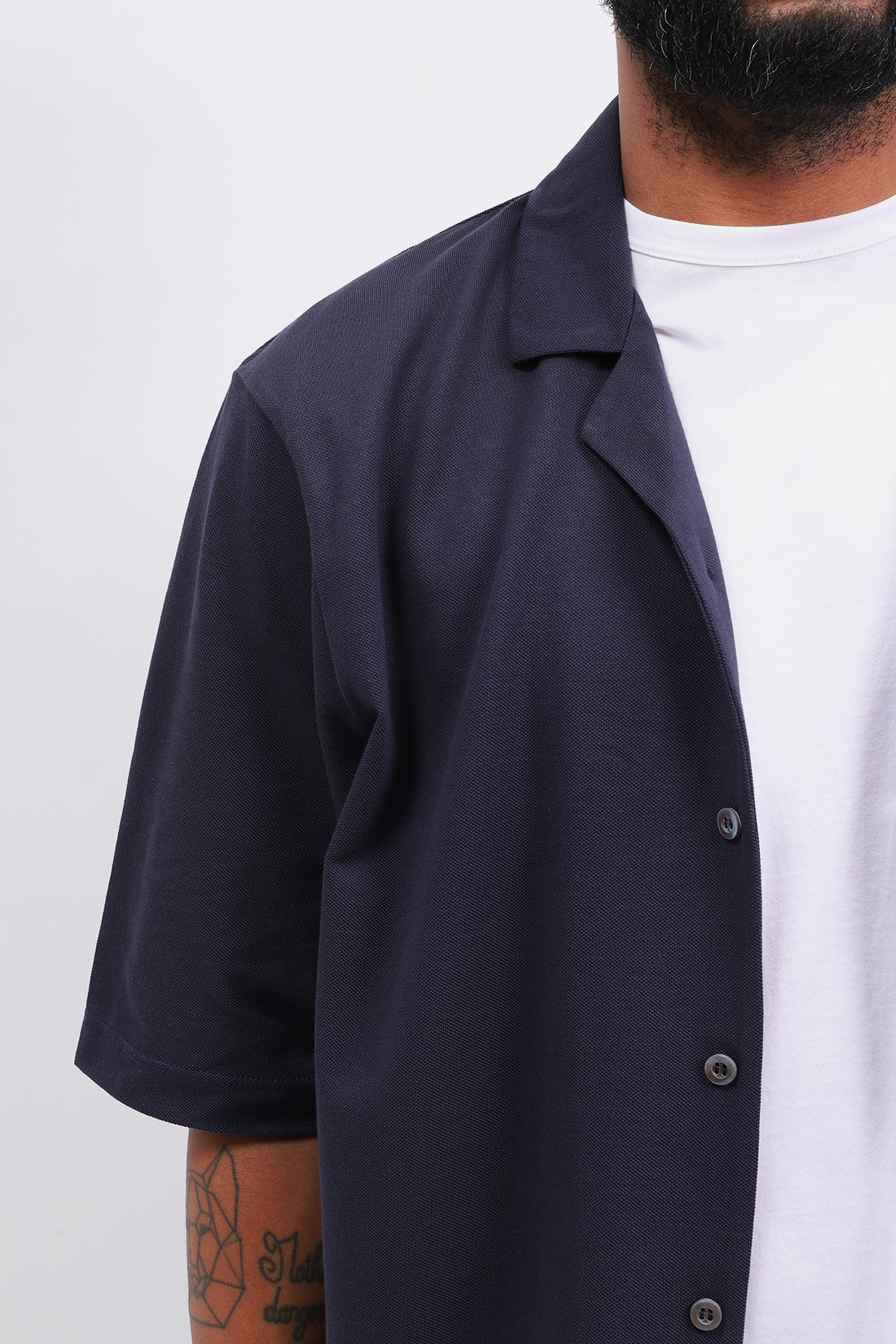 SUNSPEL / Short sleeve collar shirt Navy