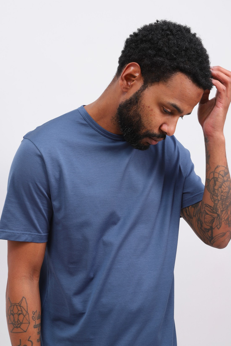 Ss crew neck t-shirt Smoke blue