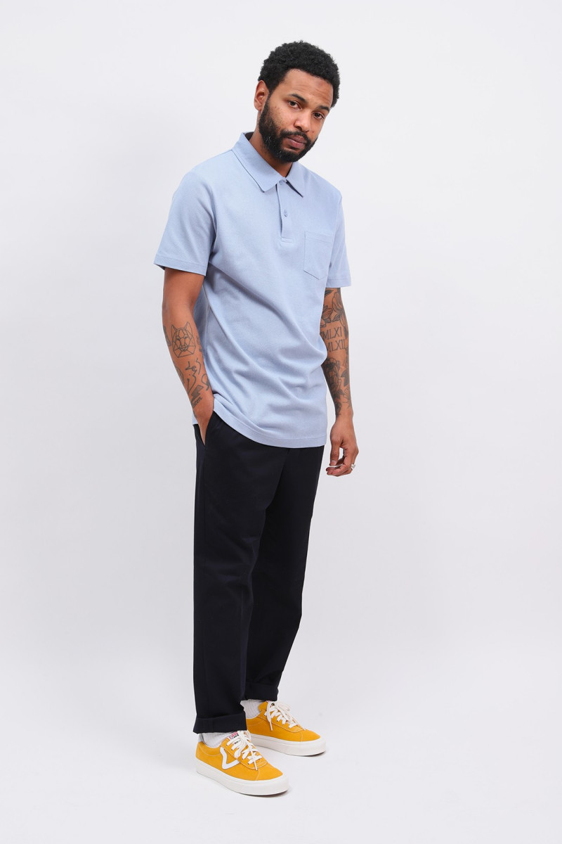 Ss riviera polo Washed denim