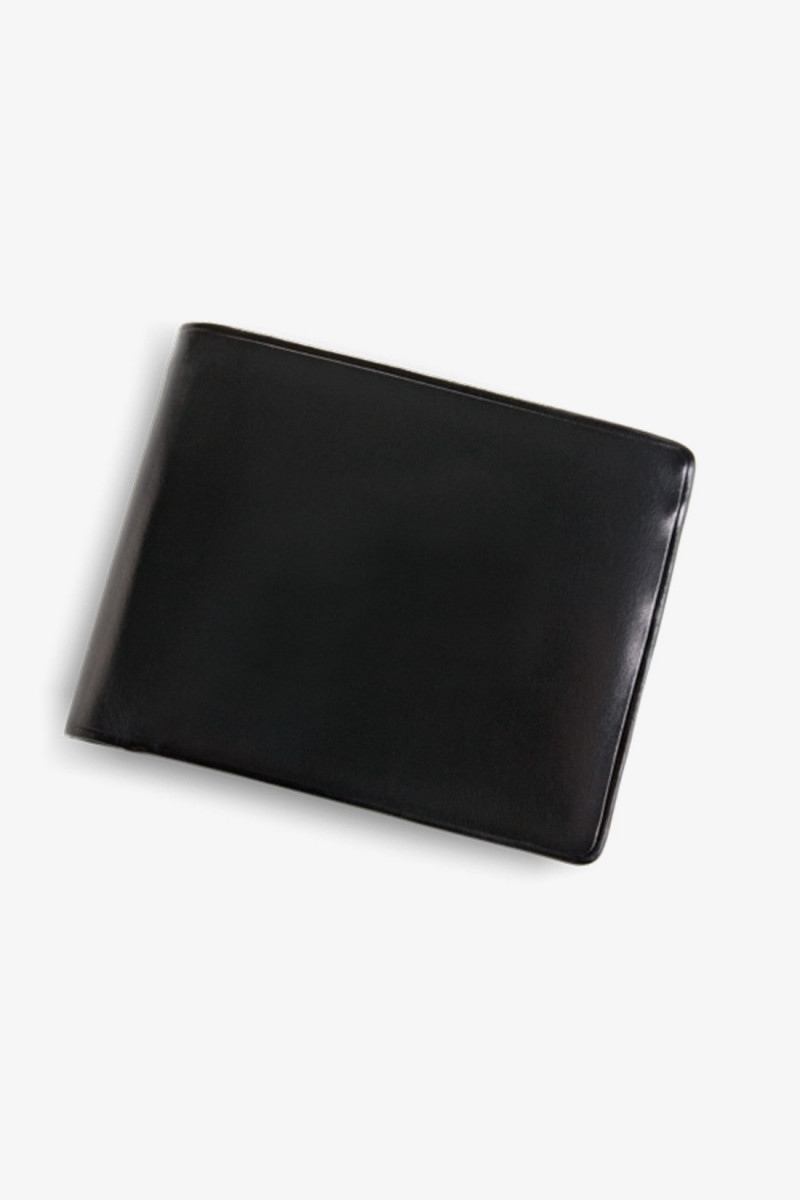Bi-fold wallet w/ coin pocket Black