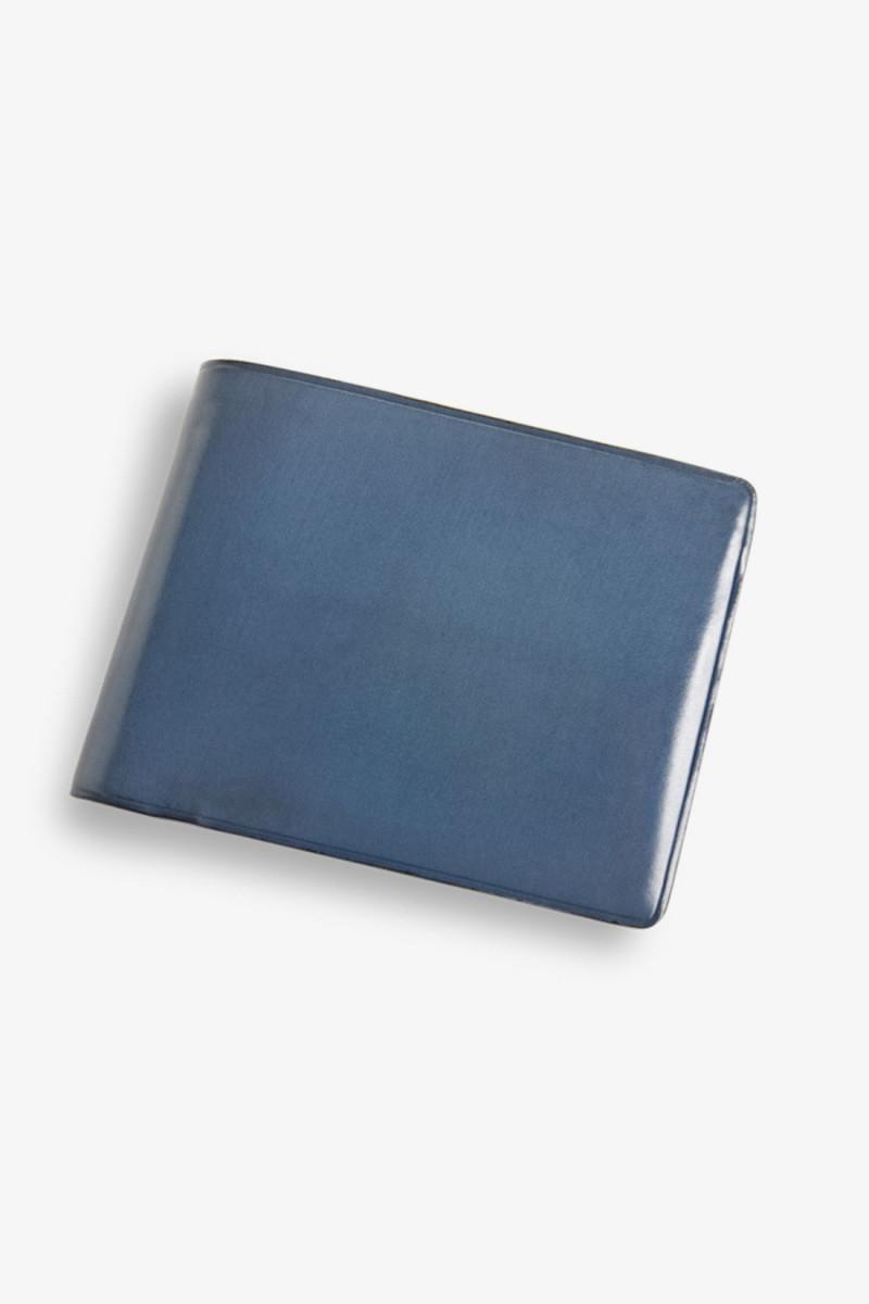 Bi-fold wallet w/ coin pocket Poseidon blue