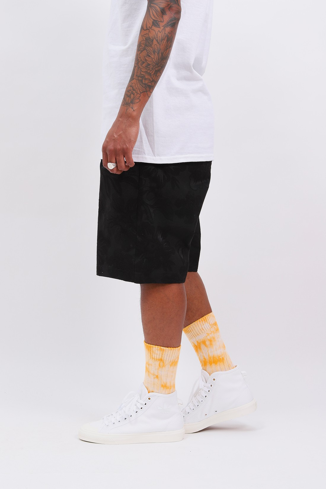 STUSSY / Hawaiian jacquard bryan short Black