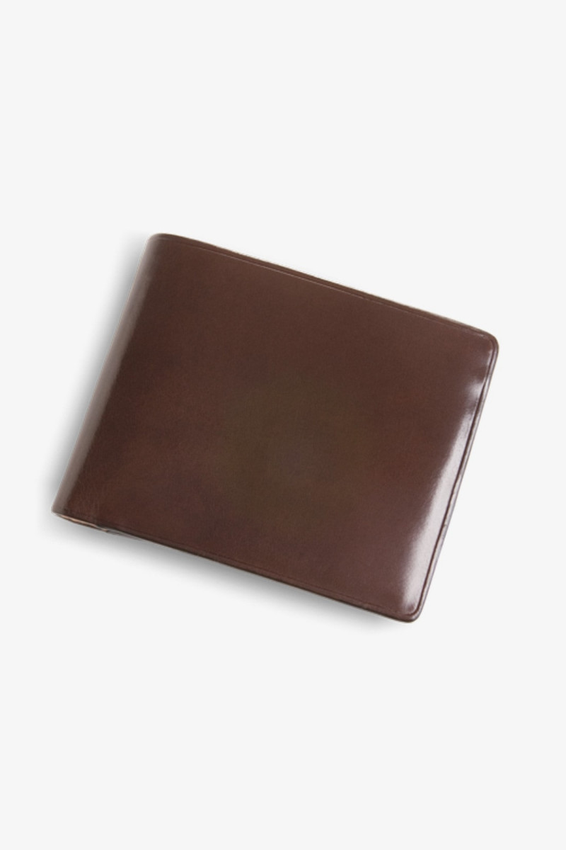 Bi fold wallet with coin Brown