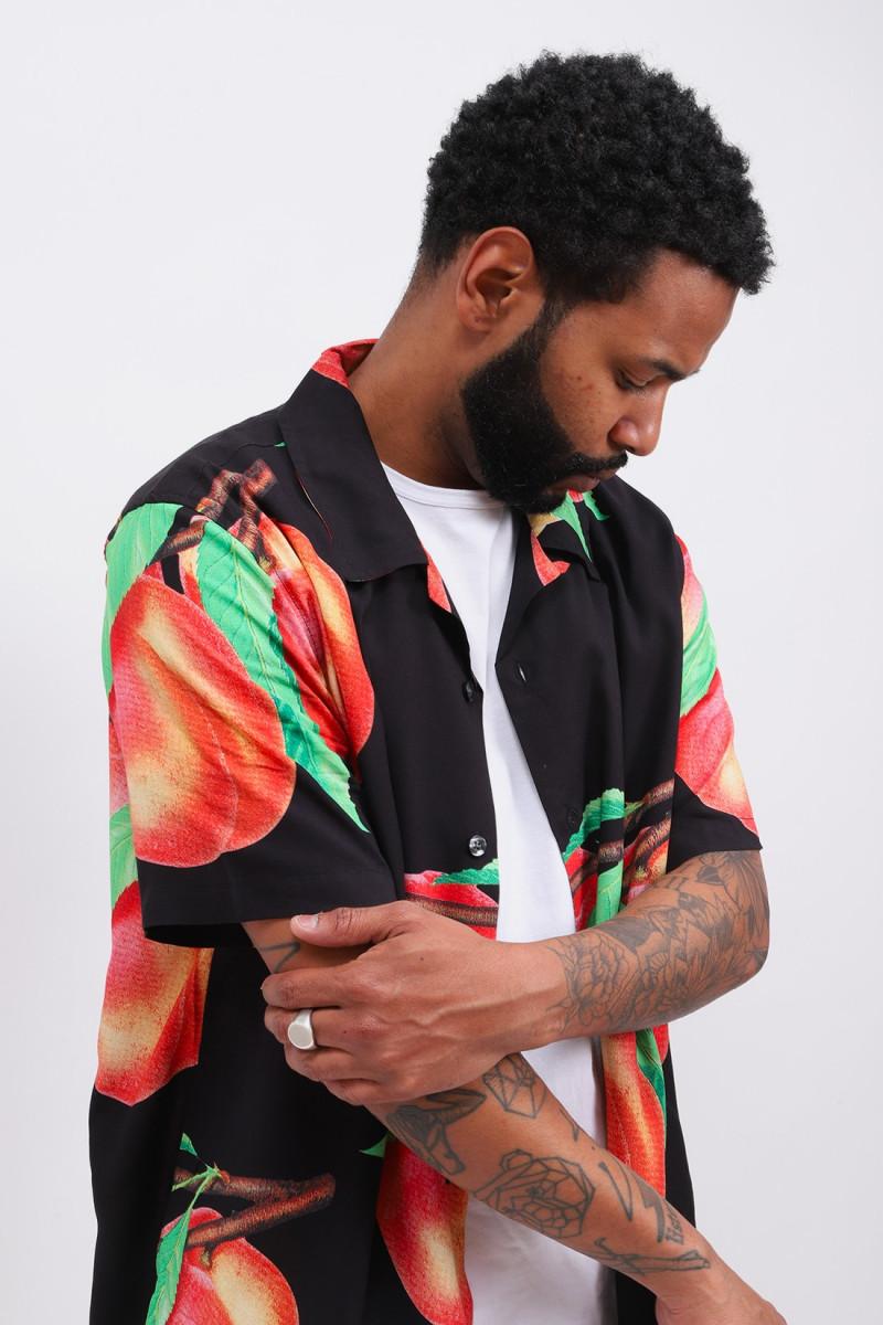 Peach pattern shirt Black