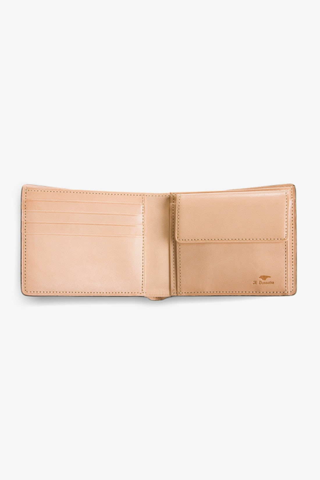 IL BUSSETTO / Bi fold wallet with coin Vintage brown
