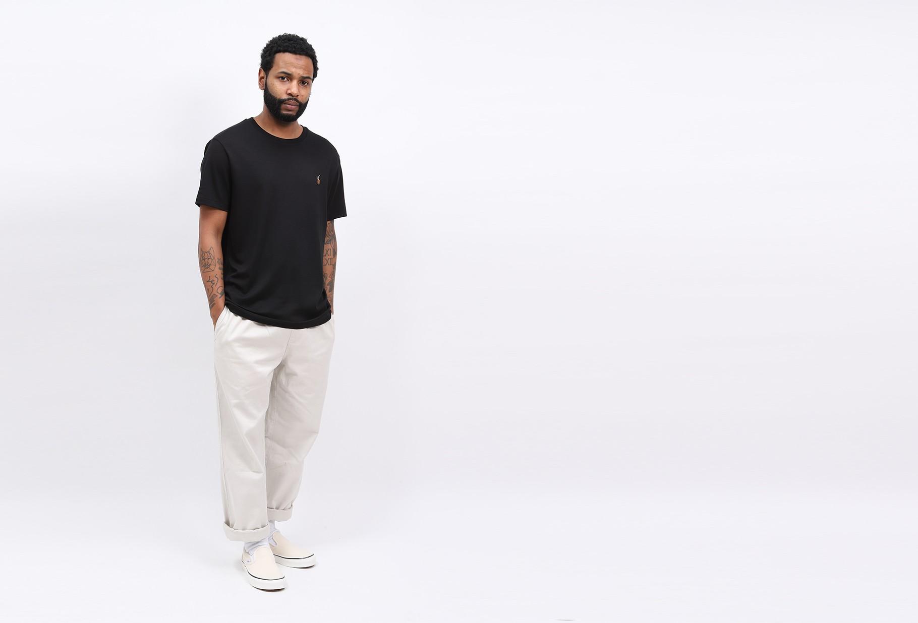 POLO RALPH LAUREN / Custom slim fit tee shirt Black