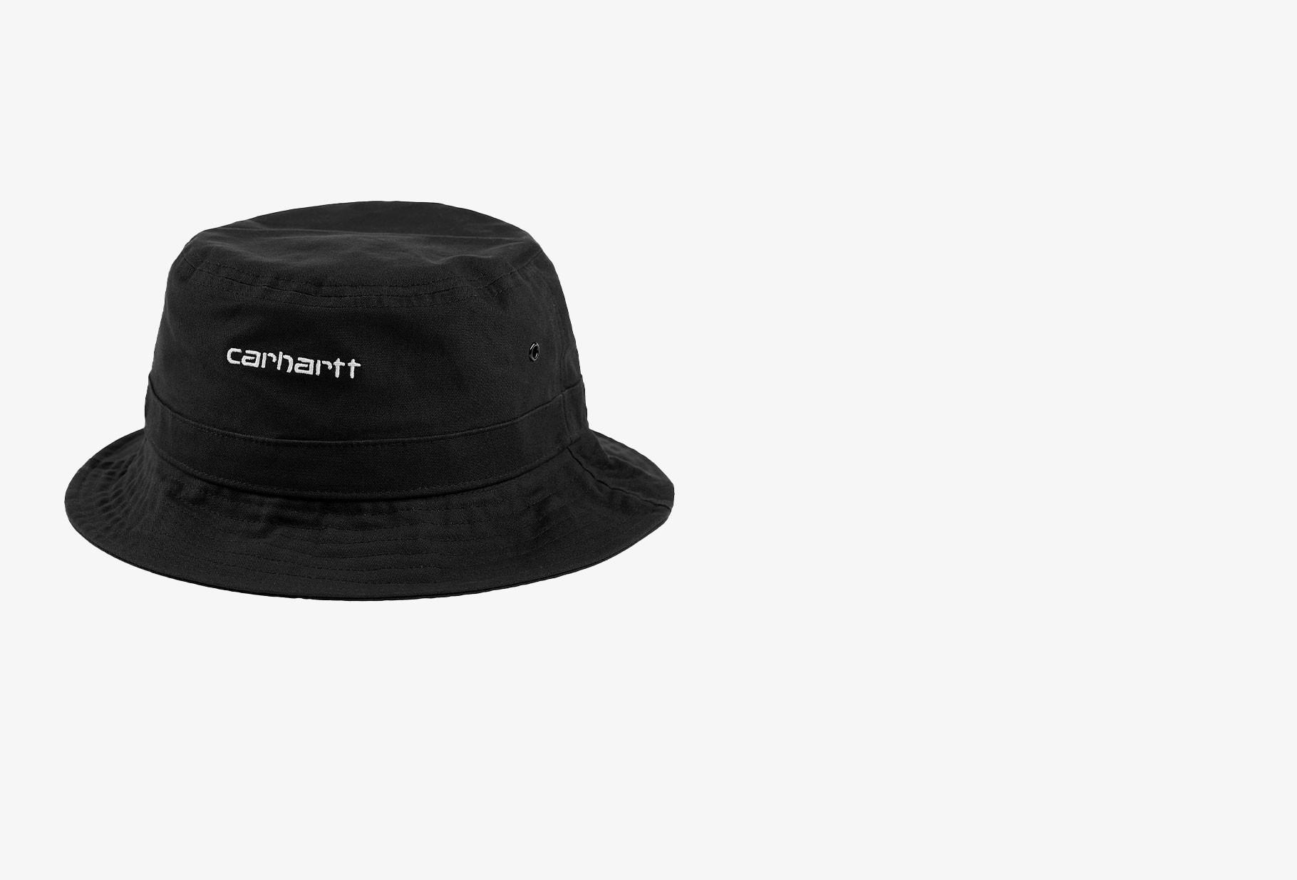 CARHARTT WIP / Script bucket hat Black