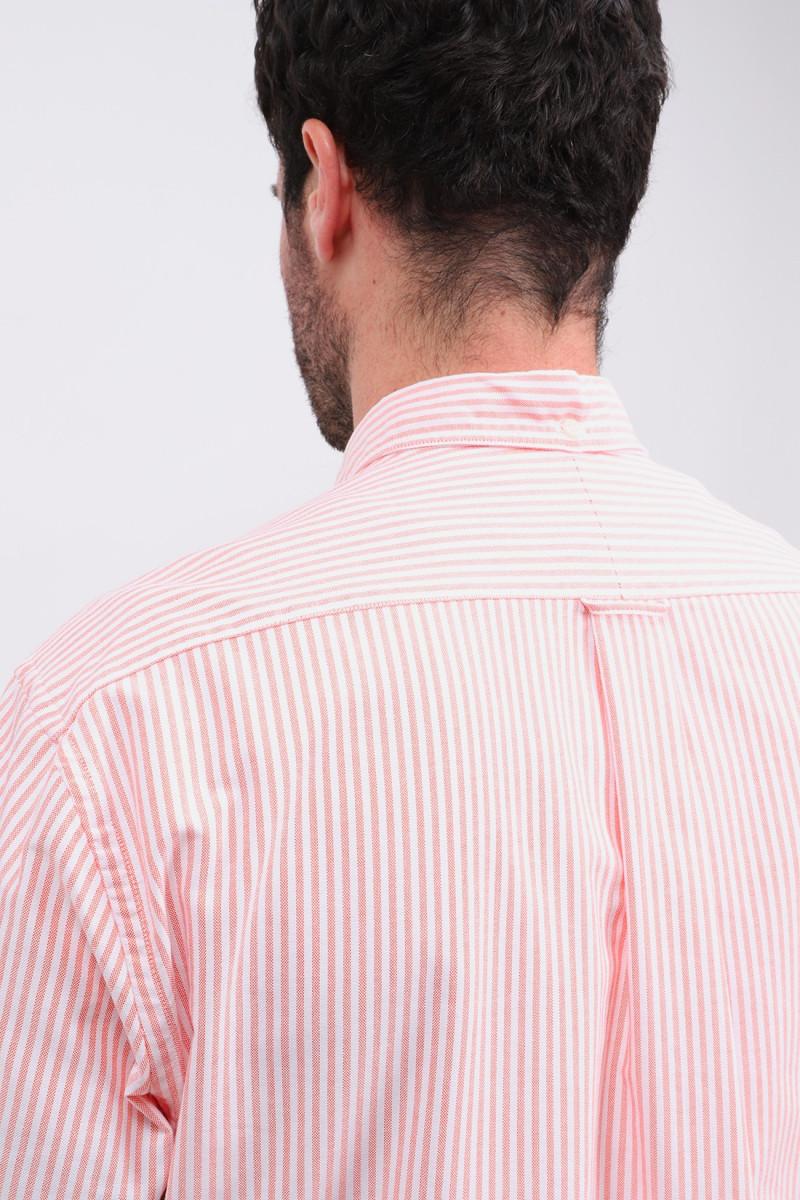 Classic oxford stripe shirt Orange