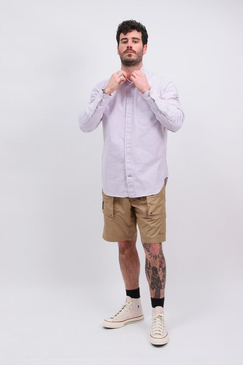 Classic oxford stripe shirt Purple