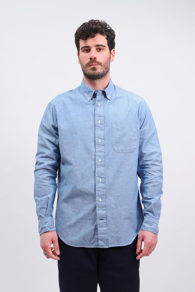 Classic summer chambray shirt Blue