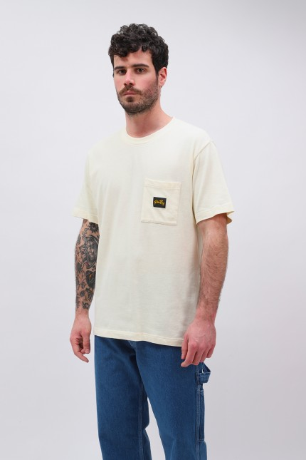 Ss patch pocket tee Natural
